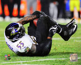 Terrell Suggs Interception 2014 Playoff Action Photo