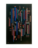 Jeu des Verticales, 1939 Giclee Print by Wassily Kandinsky