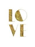 Love Gold Print by Brett Wilson