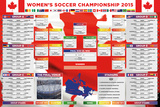 Womens World Cup Wallchart Prints