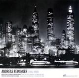 Downtown Manhattann at Night, New York Samlertryk af Andreas Feininger
