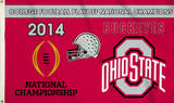 2014 National Champions Ohio State Buckeyes Flag with Grommets Flag