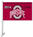2014 National Champions Ohio State Buckeyes Car Flag Flag