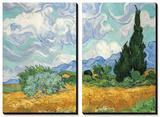 Pole pszenicy z cyprysami, ok. 1889 Plakaty autor Vincent van Gogh