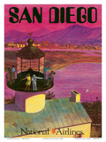 San Diego, USA - Cabrillo Monument Lighthouse Affiches par Bill Simon
