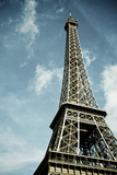 View of the Eiffel Tower with Blue Sky and White Clouds, Paris, France Posters by  pedrosala