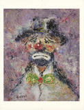 Clown Face Serigraph by Elmo Gideon