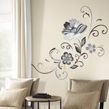 Fiore bianco e nero gigante (sticker murale) Decalcomania da muro