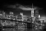 New York Freedom Tower - black and white Plakater