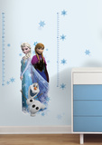 Frozen Elsa, Anna and Olaf Peel and Stick Giant Growth Chart Wandtattoo
