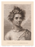 Hawaiian Native Girl - A Young Woman of the Sandwich Islands Posters by John Webber
