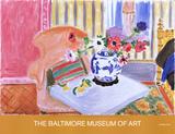 Anemones and Chinese Vase Samlertryk af Henri Matisse