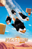 Penguins of Madagascar - Flying Kunstdrucke