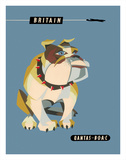 Britain, United Kingdom - English British Bulldog Giclee Print by Harry Rogers