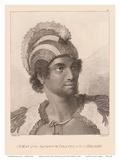 Hawaiian High Chief Kanaina nui (The Conquering) Posters by John Webber