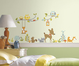 Woodland Fox & Friends Peel and Stick Wall Decals Autocollant mural