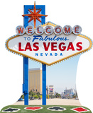 Vegas Sign Lifesize Standup Cardboard Cutouts