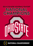 2014 National Champions Ohio State Buckeyes 2-Sided Garden Flag Flag