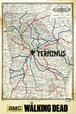 Walking Dead - Terminus Map Prints