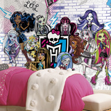 Monster High XL Chair Rail Prepasted Mural Wallpaper Mural