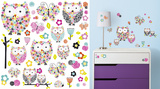 Prisma Owls & Butterflies Peel and Stick Wall Decals Autocollant mural