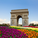 Arc De Triomphe, Paris, France Photographic Print by  neirfy