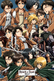 Attack On Titan - Collage Kunstdrucke