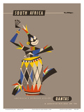 South Africa - Native African Drummer Print by Harry Rogers