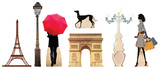 Paris Party Theme Set Lifesize Standups Cardboard Cutouts