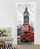 London Big Ben Door Wallpaper Mural Wallpaper Mural