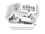"""If it's all the same to you, I'd rather eat this not knowing what the lat…"" - New Yorker Cartoon Premium Giclee Print by Frank Cotham"