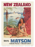 New Zealand - Sail Matson Poster by Louis Macouillard