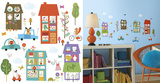 Happy Town Peel and Stick Wall Decals Autocollant mural