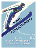 Vail, Colorado, USA - 1989 Alpine World Ski Championships Posters by Leonid Tutrumov