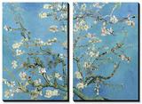 Kukkivat mantelioksat, San Remy, n. 1890 Taide tekijänä Vincent van Gogh