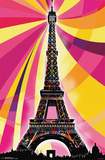 Eiffel Tower - Psychedelic Photo