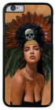 Feathers and Skulls iPhone 6 Case by Charmaine Olivia