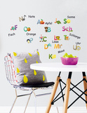Deutsch Alphapets Wall Decal Autocollant mural
