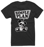 Juniors: Simple Plan - Panda T-Shirt