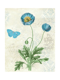 Booked Blue IV Crop Print by Katie Pertiet