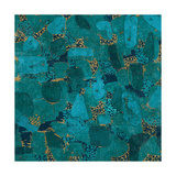 Gilded Stone Turquoise Prints by Hugo Wild