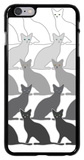 Black Cats iPhone 6 Plus Case by  Avalisa