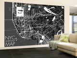 NYC Subway Map Wallpaper Mural Wallpaper Mural