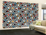 Geometric Strip Wallpaper Mural Wallpaper Mural