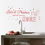 Cooking With Love & Imagination Wall Decal Autocollant