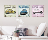 Vintage Cars Wall Decal Wall Decal
