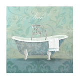 Damask Bath Tub Print by Avery Tillmon