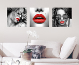 Red Lips Wall Decal Autocollant