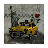 I Love New York Giclee Print by Clayton Rabo