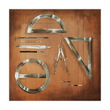 Drafting Tools Giclee Print by Sydney Edmunds